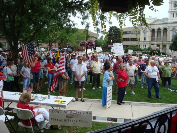 2009 Tea Party Rally Loranger Square Monroe