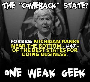 Comback Forbes on Snyder